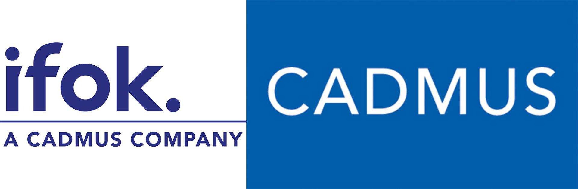 Logos der Unternehmen CADMUS und ifok
