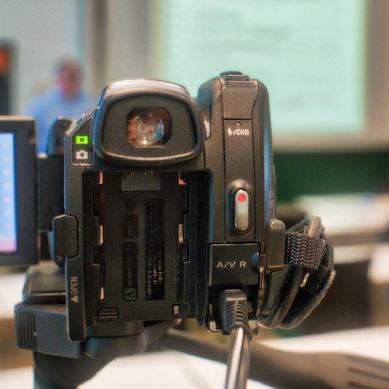 Kamera nimmt Präsentation auf
